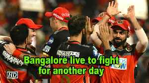 News video: IPL 2018 | Bangalore live to fight for another day
