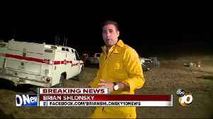 News video: Brush fire grows to more than 1,200 acres