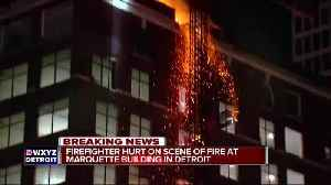 News video: Crews fight fire at Marquette Building in downtown Detroit