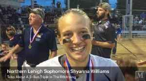 News video: Northern Lehigh sophomore Shyanna Williams talks about her 3-run triple in her team's league title win over Salisbury