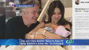 News video: Alec, Hilaria Baldwin Welcome Baby No. 4