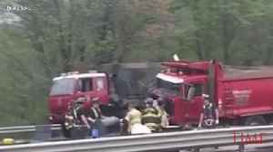 News video: 2 Dead, 43 Injured in 'Horrific' School Bus Crash in New Jersey: The Latest