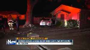 News video: Car with teens inside crashes into El Cajon home