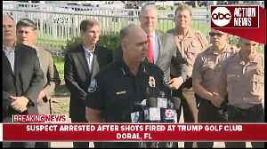 News video: Shots fired at Trump golf club, suspect arrested | Press Conference (5.18 9AM)