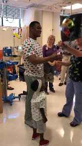 News video: Chemo Patient Rings Cancer Survivor Bell and Gives Speech