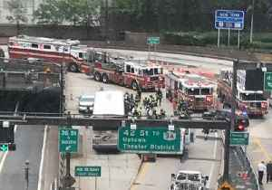 News video: Dozens Injured in Two-Bus Collision at New York's Lincoln Tunnel