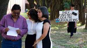 News video: Family Shocked When Son Unexpectedly Graduates College
