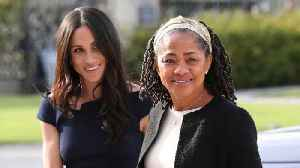 News video: Could Meghan Markle's Hotel Arrival Hint At Wedding Dress Style?