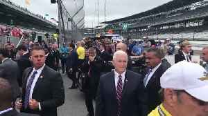 News video: Vice President Mike Pence stops at Indianapolis Motor Speedway
