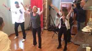 News video: Nick Delmonico and Tiffany Maher dance to disco hits with cancer survivors at Gilda's Club