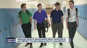 News video: Quadruplet brothers all accepted to Michigan State University