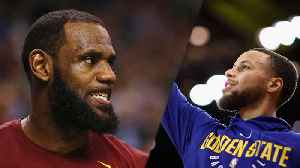 News video: Lebron James Goes WILD, Mimics Steph Curry After Cavs Practice