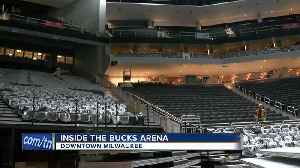 News video: New Bucks arena 95% done: Team president gives tour of locker room, atrium and more