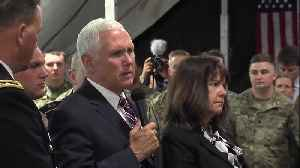 News video: Vice President Mike Pence meets Indiana National Guard members