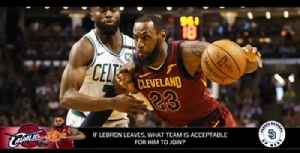 News video: If LeBron James leaves Cleveland, which team is acceptable for him to join?