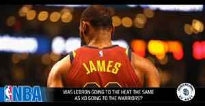 News video: Was LeBron James going to the Heat the same as KD going to the Warriors?