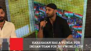 News video: Harbhajan Has A 'Funda' For Indian Team For 2019 World Cup