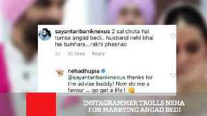 News video: Instagrammer Trolls Neha For Marrying Angad Bedi