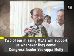 News video: Two of our missing MLAs will support us whenever they come: Congress leader Veerappa Moily