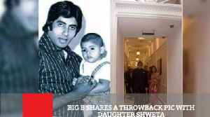 News video: Big B Shares A Throwback Pic With Daughter Shweta