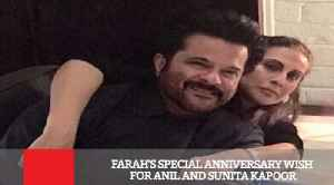 News video: Farah's Special Anniversary Wish For Anil And Sunita Kapoor