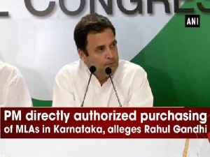 News video: PM directly authorized purchasing of MLAs in Karnataka, alleges Rahul Gandhi