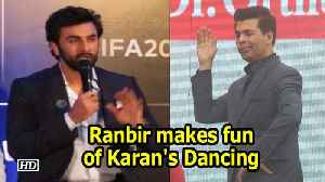 News video: Ranbir Kapoor makes fun of Karan Johar's Dancing