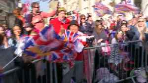 News video: Huge numbers turn out for the royal wedding in Windsor