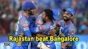 News video: IPL 2018 | Rajastan beat Bangalore