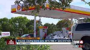 News video: Two people start a fire at Cape Coral gas station
