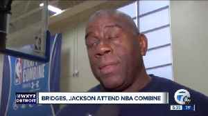 News video: Magic Johnson believes Michigan State's Miles Bridges and Jaren Jackson are both top-10 picks