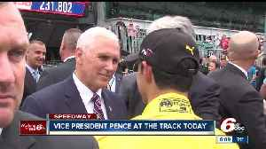 News video: Vice President Mike Pence surprises fans at the Indianapolis Motor Speedway