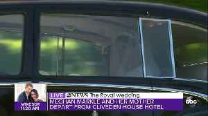News video: Meghan Markle and her mother leave Cliveden House Hotel and head to St. George's Chapel