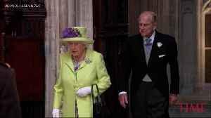News video: Queen Elizabeth and Prince Philip Arrive At The Royal Wedding
