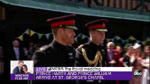 News video: Prince Harry and Prince William arrive for Royal Wedding