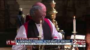 News video: British Prince Harry and American actress Meghan Markle tie the knot in Windsor