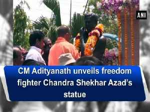 News video: CM Adityanath unveils freedom fighter Chandra Shekhar Azad's statue