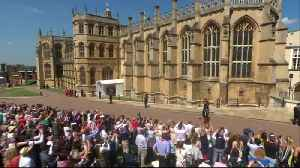 News video: Prince Harry arrives for his big day