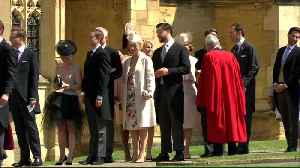 News video: Suits cast members, James Corden, Serena Williams arrive for royal wedding