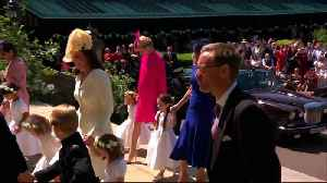 News video: Royalty meets showbiz as Harry and Meghan wed