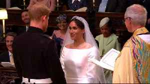 News video: 'You're husband and wife:' Harry and Meghan wed