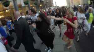 News video: Female fans chase Dermot O'Leary through streets of Windsor
