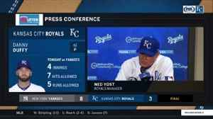 News video: Ned Yost on Danny Duffy: 'It's a struggle for him right now'