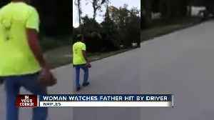 News video: EXCLUSIVE: Woman watches father get hit by driver