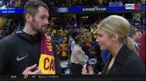 News video: Kevin Love on Cavs' blowout win: 'Clicking on all cylinders'