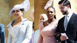 News video: See What Serena Williams and Priyanka Chopra Wore to the Royal Wedding Reception!