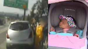 News video: Mom Gives Birth on Los Angeles Highway With Help from CHP Officers
