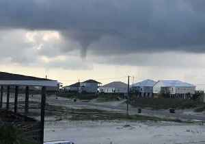 News video: Funnel Cloud Forms Over Dauphin Island