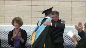 News video: Resource Officer Who Stopped Shooting at Illinois High School Honored at Graduation