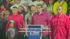 News video: Venezuela's Maduro celebrates after being declared winner of presidential election